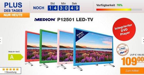 """MEDION® LIFE® P12501 54,6 cm (21,5"""") Fernseher mit integriertem DVD-Player - jetzt 9% billiger"""