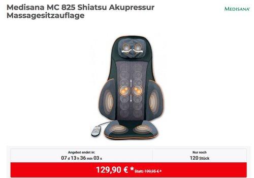Medisana MC 825 Shiatsu Akupressur Massagesitzauflage - jetzt 7% billiger