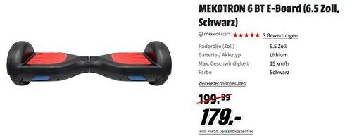 MEKOTRON 6 BT E-Board 15 km/h mit Vollgummireifen - jetzt 10% billiger