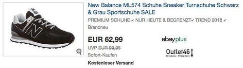 New Balance ML574 Herren Sneaker in Schwarz, Grau oder Schwarz/Rot - jetzt 7% billiger