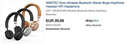 NINETEC Xono Bluetooth-Kopfhörer - jetzt 50% billiger