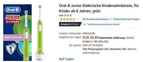 Oral-B Junior Elektrische Kinderzahnbürste - jetzt 10% billiger