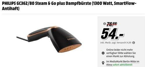 PHILIPS GC362/80 Steam & Go plus Dampfbürste für vertikales und horizontales Dampfbügeln - jetzt 19% billiger