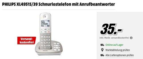 PHILIPS XL4951S/39 Schnurlostelefon mit Anrufbeantworter - jetzt 36% billiger