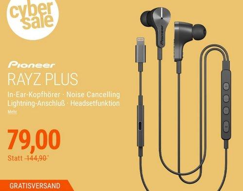 Pioneer Rayz Plus SE-LTC5R-S In-Ear Kopfhörer mit Lightning-Anschluß in Graphit - jetzt 36% billiger