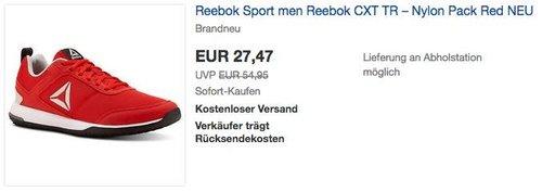 Reebok CXT TR – Nylon Pack Red Herren Fitnessschuh - jetzt 43% billiger