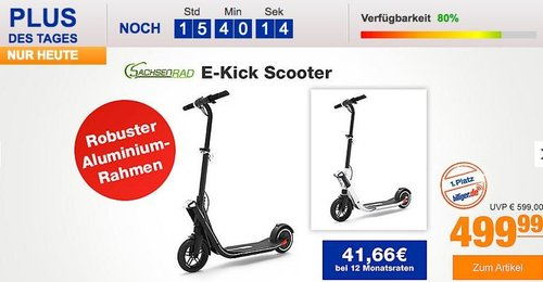 Sachsenrad E Kick Scooter, klappbarer Elektroscooter - jetzt 17% billiger