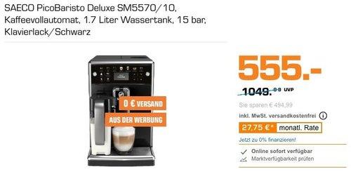 SAECO PicoBaristo Deluxe SM5570/10  Kaffeevollautomat in Klavierlack/Schwarz - jetzt 17% billiger