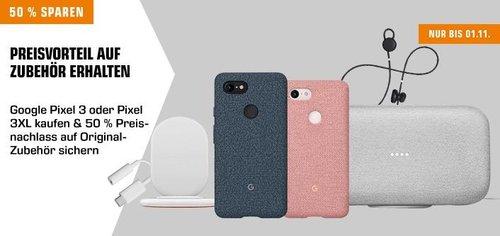 Saturn - Google Pixel 3 oder Pixel 3 XL Smartphone kaufen und 50% bei Zubehör sparen - jetzt 16% billiger