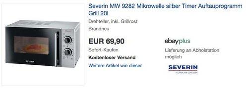 Severin MW 9282 Mikrowelle mit Grillfunktion 2in1 - jetzt 30% billiger