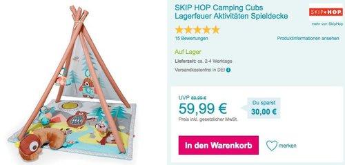 SKIP HOP Camping Cubs Lagerfeuer Aktivitäten - Spieldecke - jetzt 23% billiger