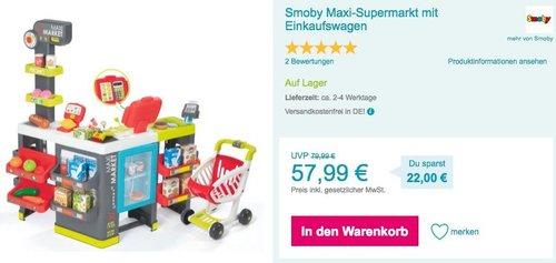 Smoby Maxi-Supermarkt Spielzeug mit Einkaufswagen - jetzt 15% billiger