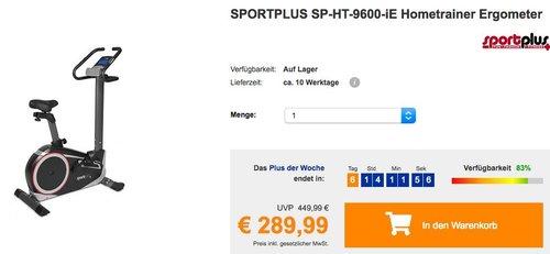 SPORTPLUS SP-HT-9600-iE Hometrainer Ergometer mit App-Steuerung, Google Street View - jetzt 17% billiger