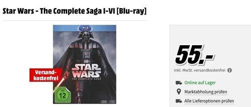 Star Wars - The Complete Saga I-VI [Blu-ray] - jetzt 8% billiger