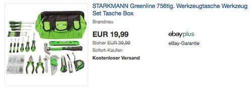 STARKMANN Greenline 756tlg. Werkzeugtasche - jetzt 37% billiger