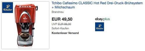 Tchibo Cafissimo Classic Kaffee-Kapselmaschine in Rot - jetzt 50% billiger