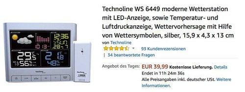 Technoline WS 6449 moderne Wetterstation mit LED-Anzeige - jetzt 23% billiger