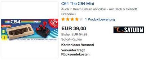 THE C64-MINI Spielkonsole - jetzt 22% billiger