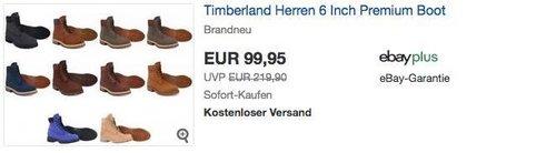 Timberland Herren 6 Inch Premium Boot/Stiefel in verschiedenen Farben und Größen - jetzt 14% billiger
