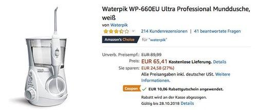 Waterpik WP-660EU Ultra Professional Munddusche - jetzt 15% billiger