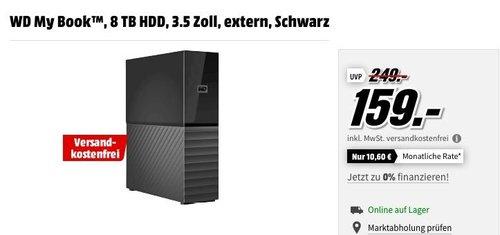 WD My Book™ 8 TB HDD 3.5 Zoll externe Festplatte - jetzt 14% billiger