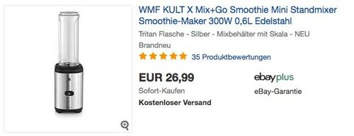 WMF KULT X Mix+Go Smoothie Mini Standmixer 300W - jetzt 7% billiger