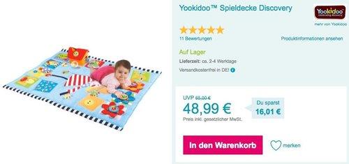 Yookidoo™ Spieldecke Discovery - jetzt 16% billiger