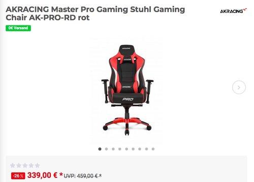 AKRACING Master Pro Gaming Stuhl in verschiedenen Farben - jetzt 16% billiger