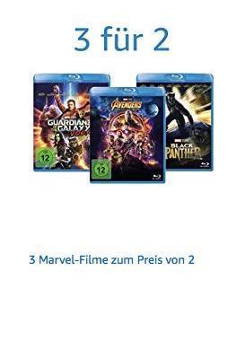 Amazon - Aktion: 3 Marvel-Filme zum Preis von 2 - jetzt 32% billiger