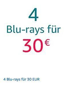 Amazon Aktion: 4 Blu-rays für 30 EUR bis 18.11.18 - jetzt 49% billiger