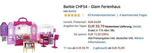 Barbie CHF54 - Glam Ferienhaus mit Zubehör - jetzt 17% billiger