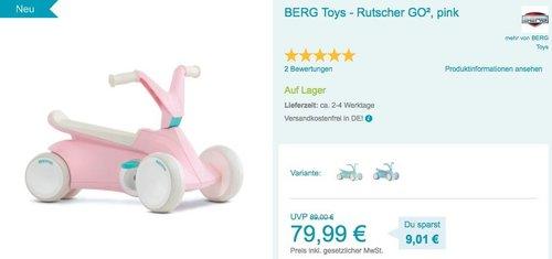 BERG Toys - Rutscher GO² in Pink, Blau oder Mint - jetzt 6% billiger