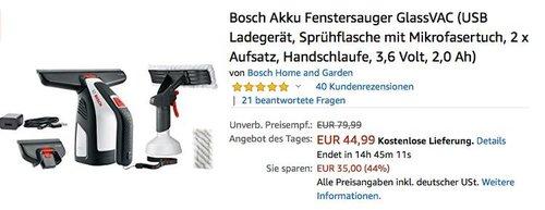 Bosch Akku Fenstersauger GlassVAC - jetzt 31% billiger