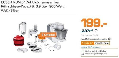 BOSCH MUM 54W41 Küchenmaschine in Weiß/Silber - jetzt 16% billiger