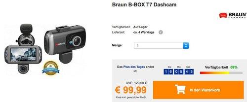 Braun B-BOX T7 Dashcam - jetzt 9% billiger