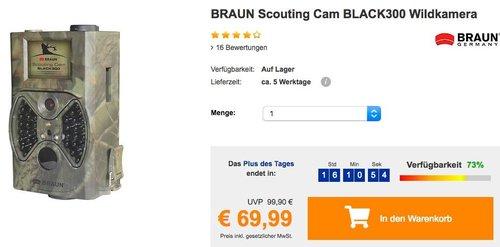 BRAUN Scouting Cam BLACK300 Wildkamera für Tag- und Nachtaufnahmen - jetzt 13% billiger