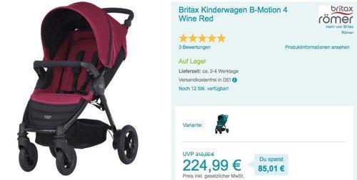 Britax Kinderwagen B-Motion 4 - jetzt 10% billiger