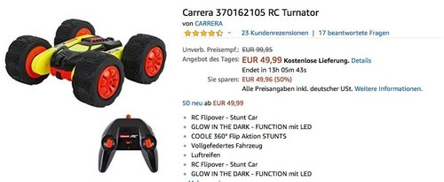 Carrera RC Turnator Glow in the dark - jetzt 11% billiger