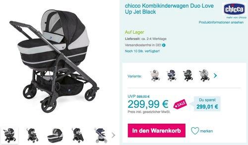 chicco Kombikinderwagen Duo Love Up - jetzt 13% billiger