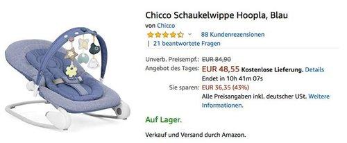 Chicco Schaukelwippe Hoopla, Blau - jetzt 25% billiger