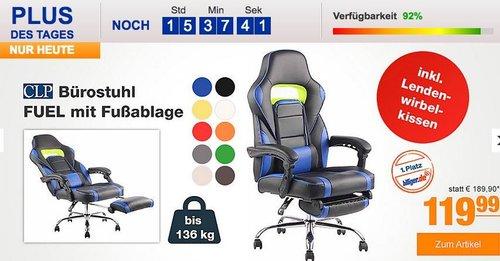 CLP Bürostuhl/Gamingstuhl FUEL mit Fußablage inverschiedenen Farben - jetzt 14% billiger
