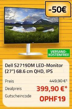 """Dell S2719DM LED-Monitor (27"""") 68.6 cm (QHD, 2560x1440, IPS) - jetzt 24% billiger"""