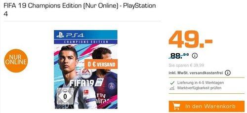 FIFA 19 Champions Edition - PlayStation 4 - jetzt 40% billiger