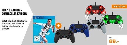 FIFA 19 PS4 + einen Nacon Controller nach Wahl - jetzt 19% billiger