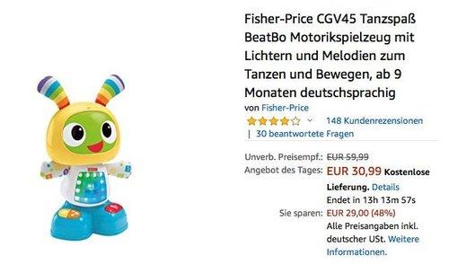 "Fisher Price Tanzroboter ""Tanzspaß BeatBo"" - jetzt 20% billiger"