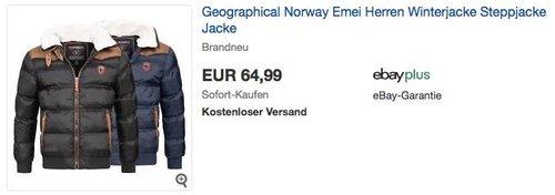 Geographical Norway Emei Herren Winterjacke - jetzt 13% billiger