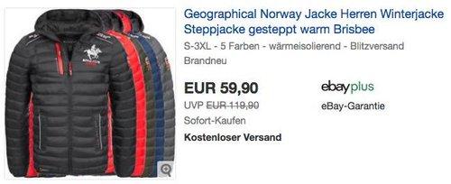 """Geographical Norway gesteppte Herren Winterjacke """"Brisbee"""" - jetzt 8% billiger"""