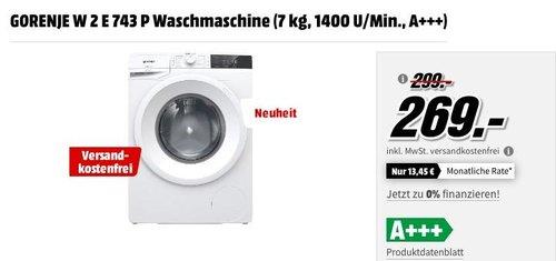 GORENJE W 2 E 743 P Waschmaschine (7 kg, 1400 U/Min., A+++) - jetzt 10% billiger