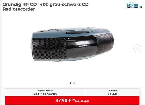 Grundig RR CD 1400 Radiorecorder in Grau/Schwarz - jetzt 17% billiger
