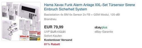 "Hama Xavax Funk XXL-Alarm System ""FeelSafe"" inkl. GSM APP Modul - jetzt 38% billiger"